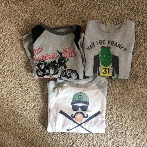 Bundle of 3 Boys long sleeve t-shirt sz small